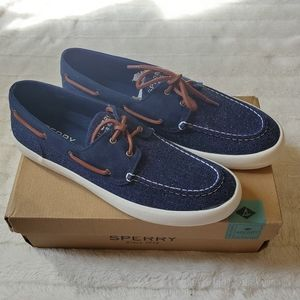 Sperry Top-Sider Sz 11 Wahoo 2-Eye Knit Navy Shoes